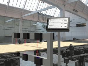 Plywood Thickness Measurement with laser sensors