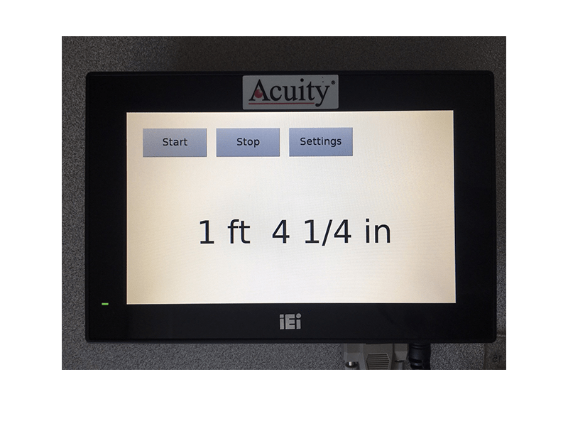 ACUITY AR1000 TOUCH PANEL DISPLAY IN FRACTIONS